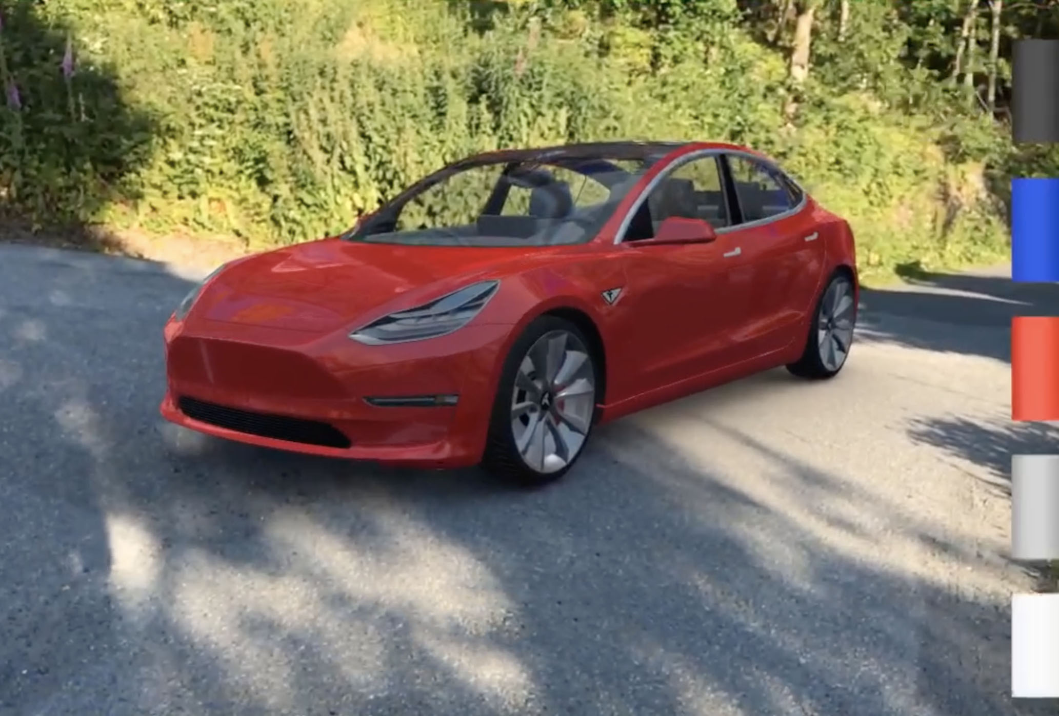 Tesla Model 3 in AR